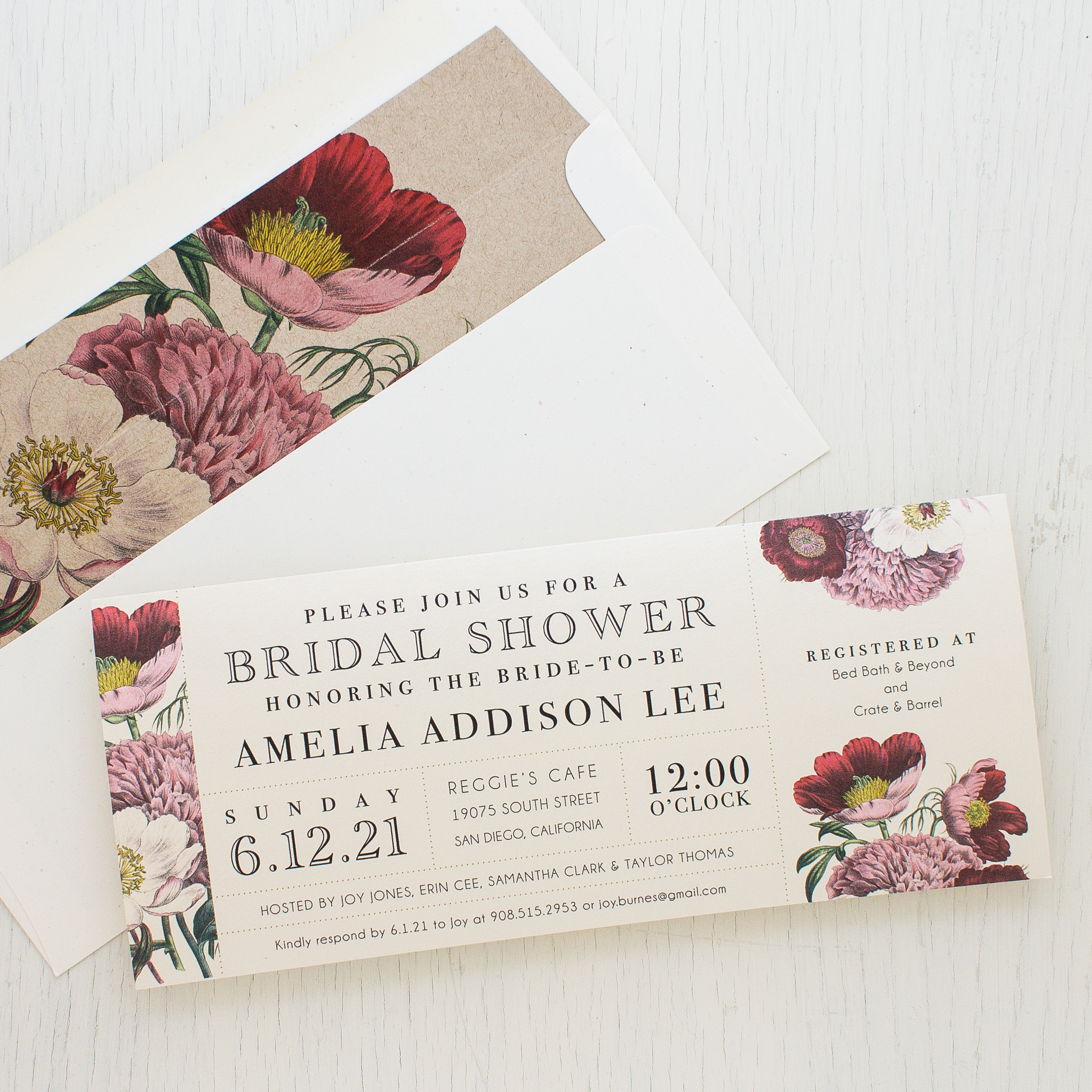 Floral Boho Bridal Shower Invitations | Beacon Lane