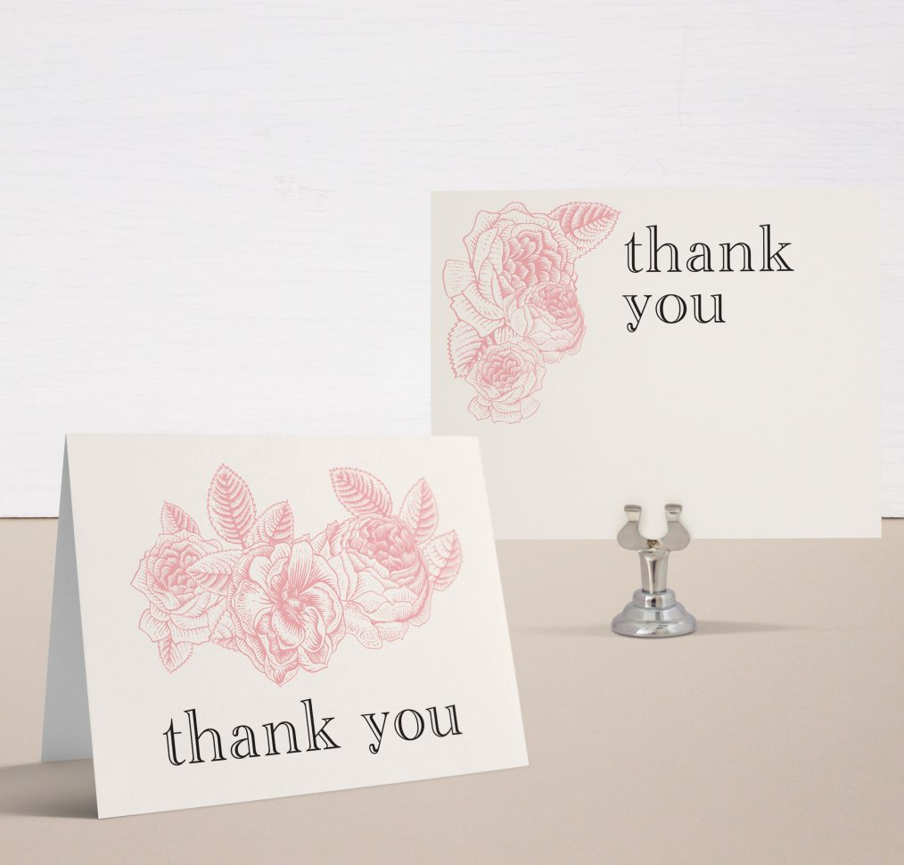 Garden Floral Bridal Shower Thank You Cards