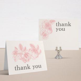 Garden Floral Thank You Cards