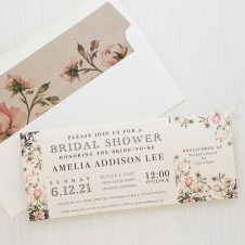 Garden Roses Bridal Shower Invitations