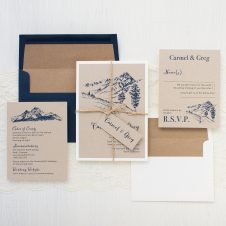 Rustic Mountain Wedding Invitation