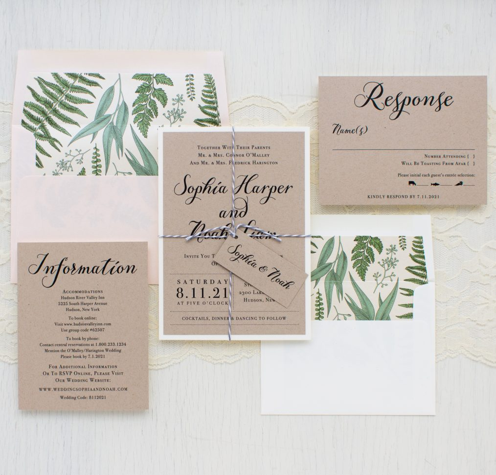 Simple Script Wedding Invitations