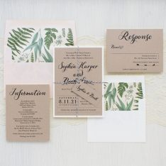 Simple Script Wedding Invitations