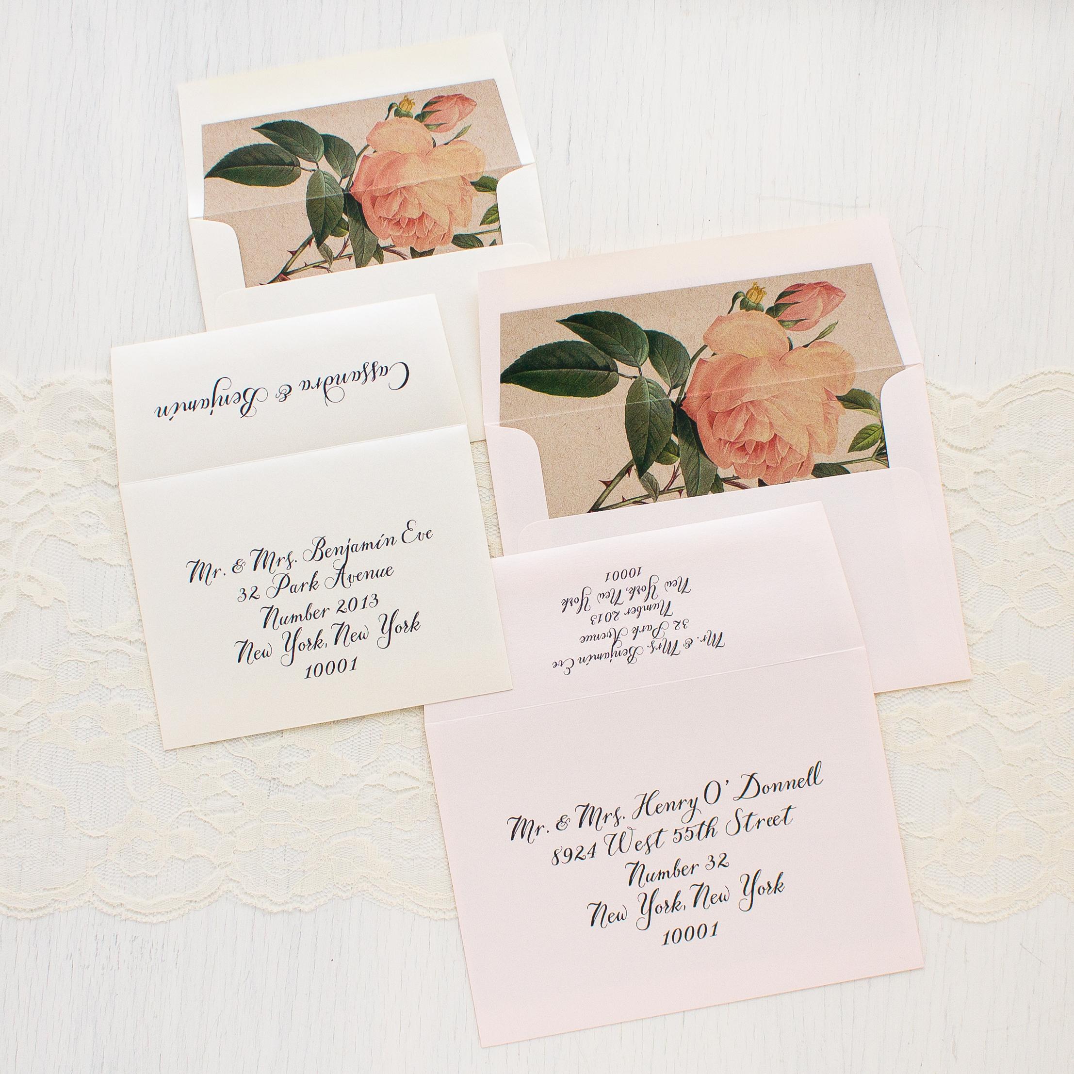 Ivory & Blush Floral Customizable Wedding Invitations | Beacon Lane