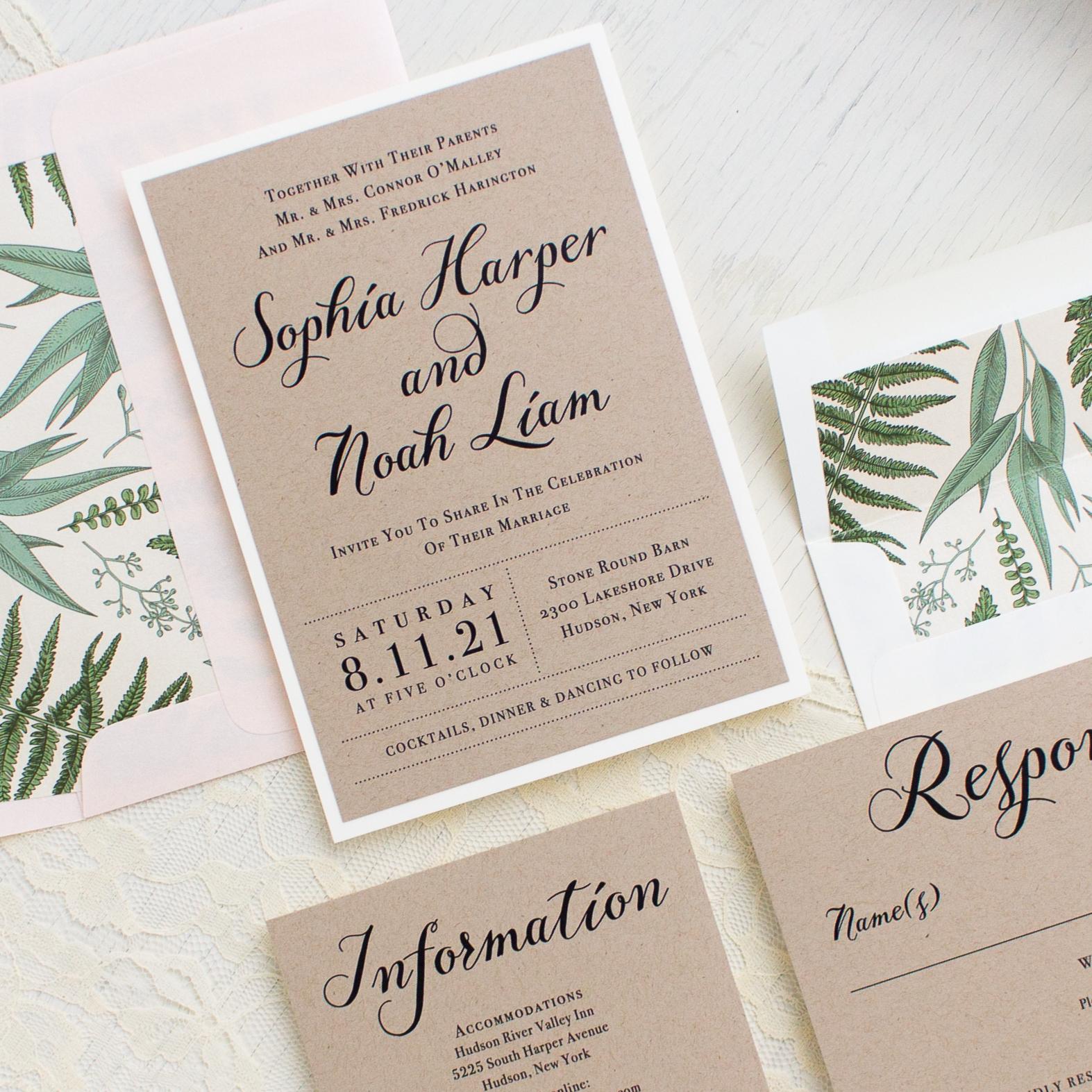 Simple Script Customizable Modern Wedding Invitations | Beacon Lane