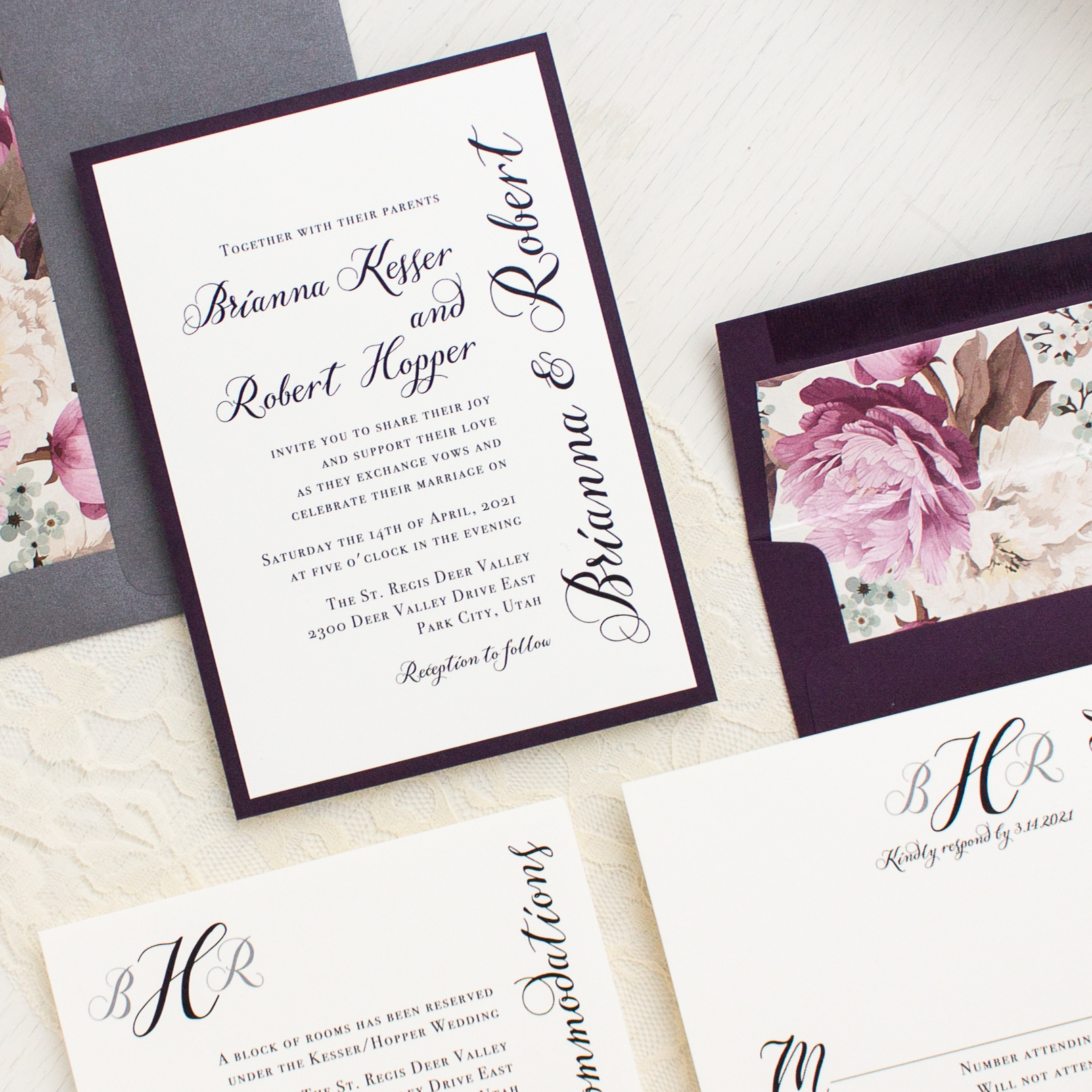 Simple Calligraphy Customizable Modern Wedding Invitations ...