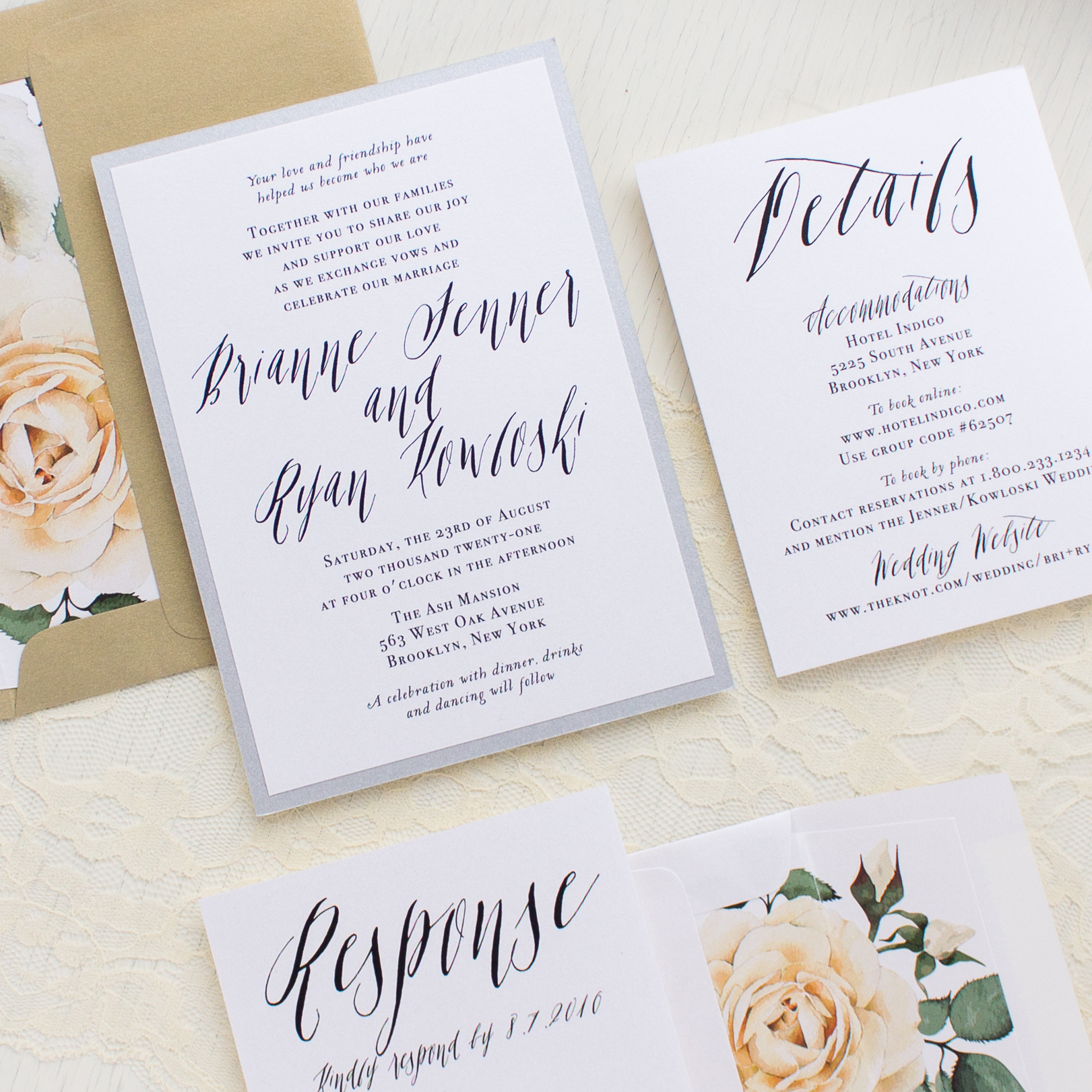 Modern Calligraphy Wedding Invitations : Modern Calligraphy Wedding Invitations
