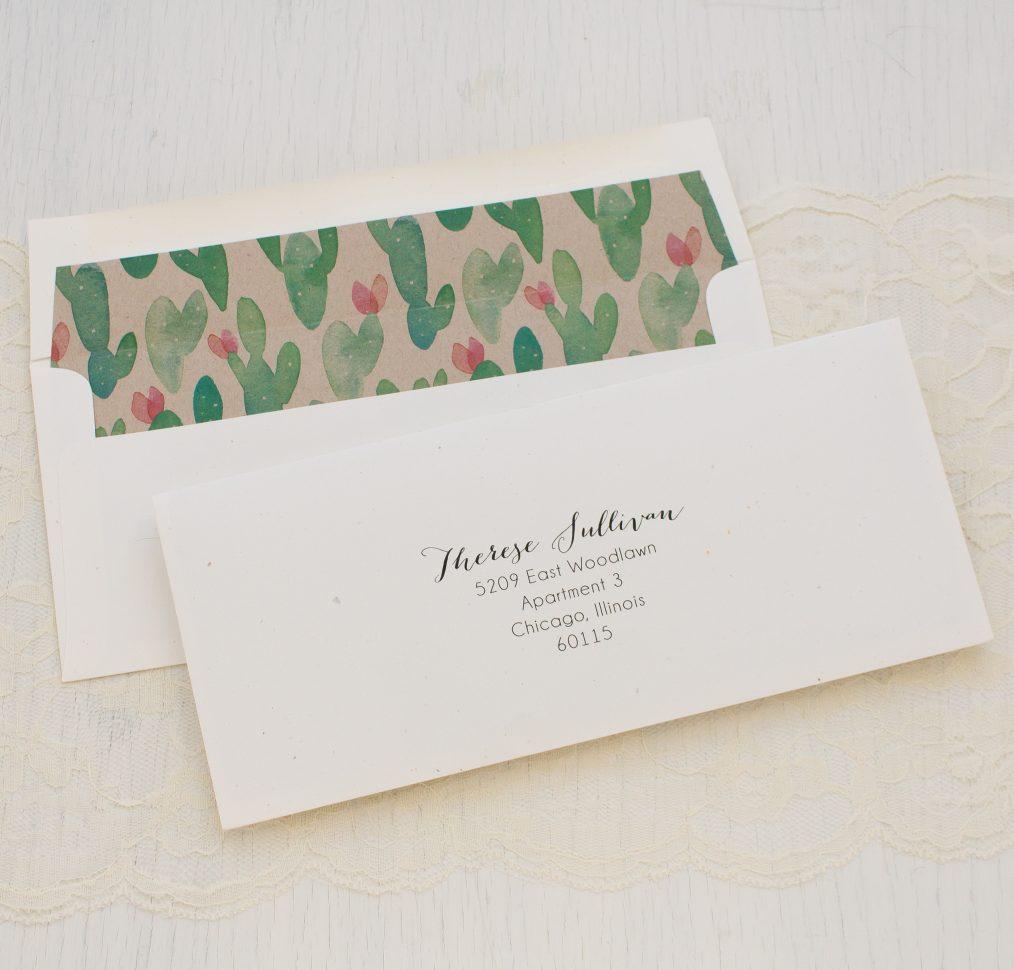 Mint Cactus Bridal Shower Invitation