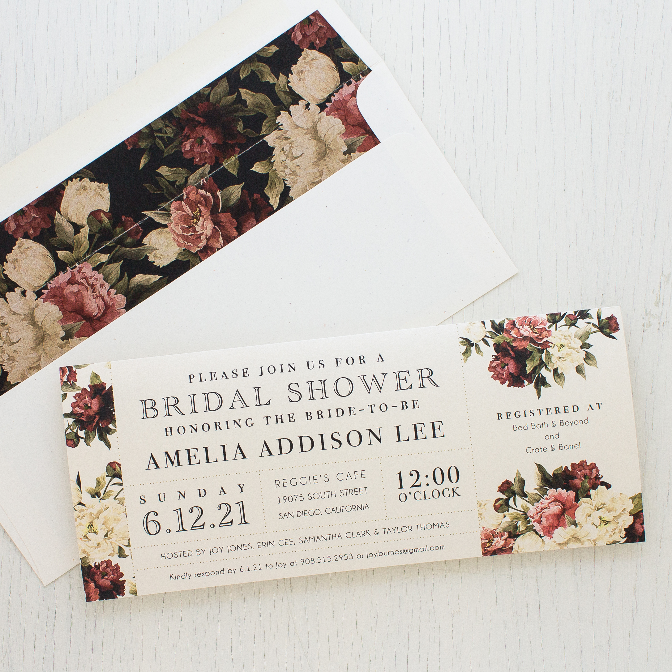 Modern Boho Bridal Shower Wedding Invitations