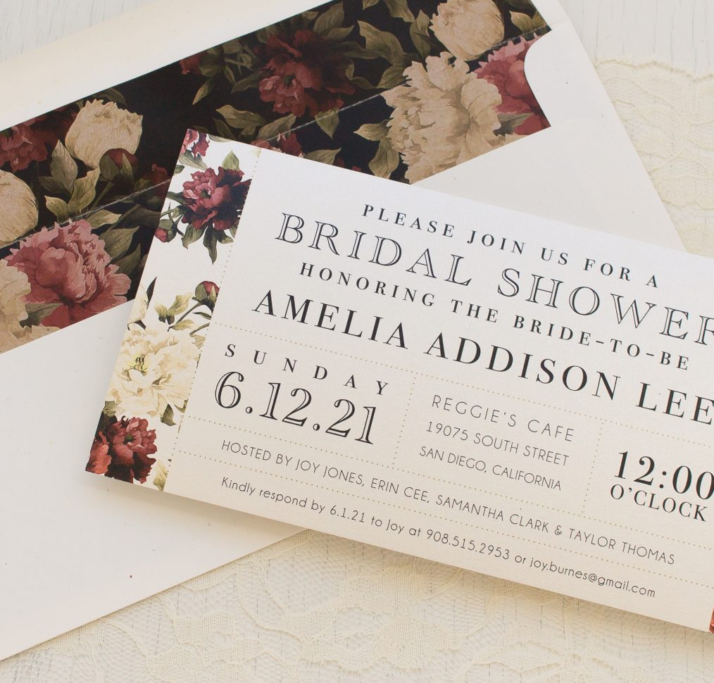 Modern Boho Bridal Shower Invitations