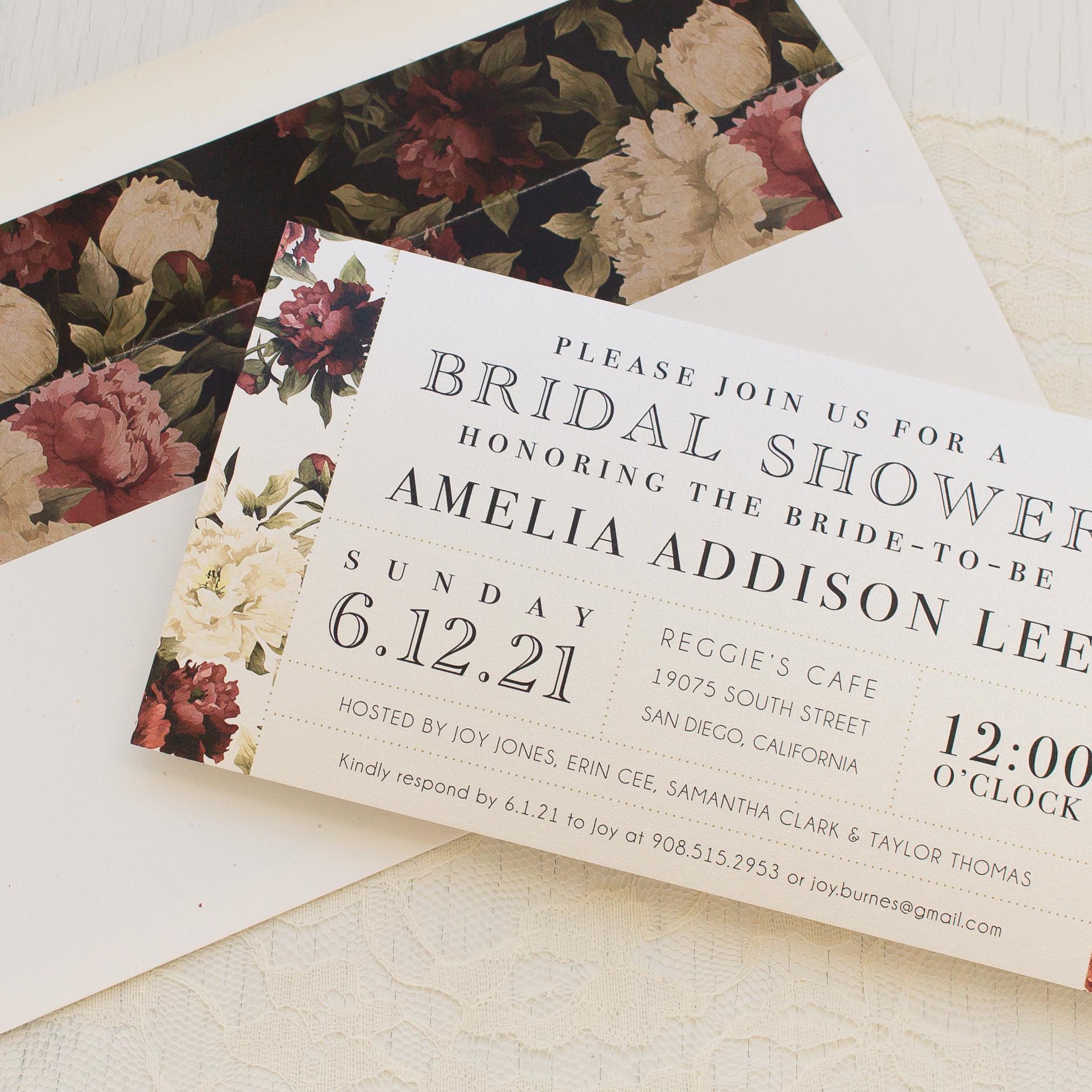 Modern Boho Bridal Shower Invitations