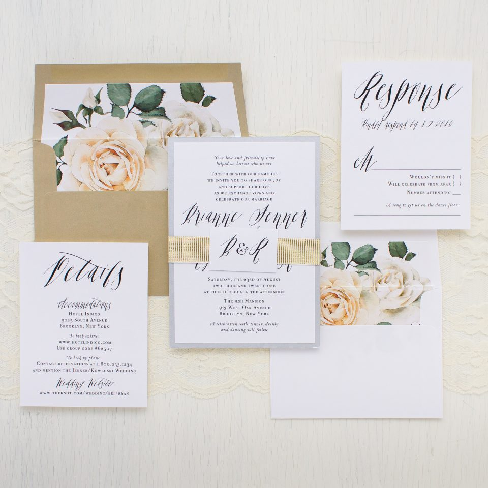 Places To Print Wedding Invitations: Modern Calligraphy Wedding Invitations