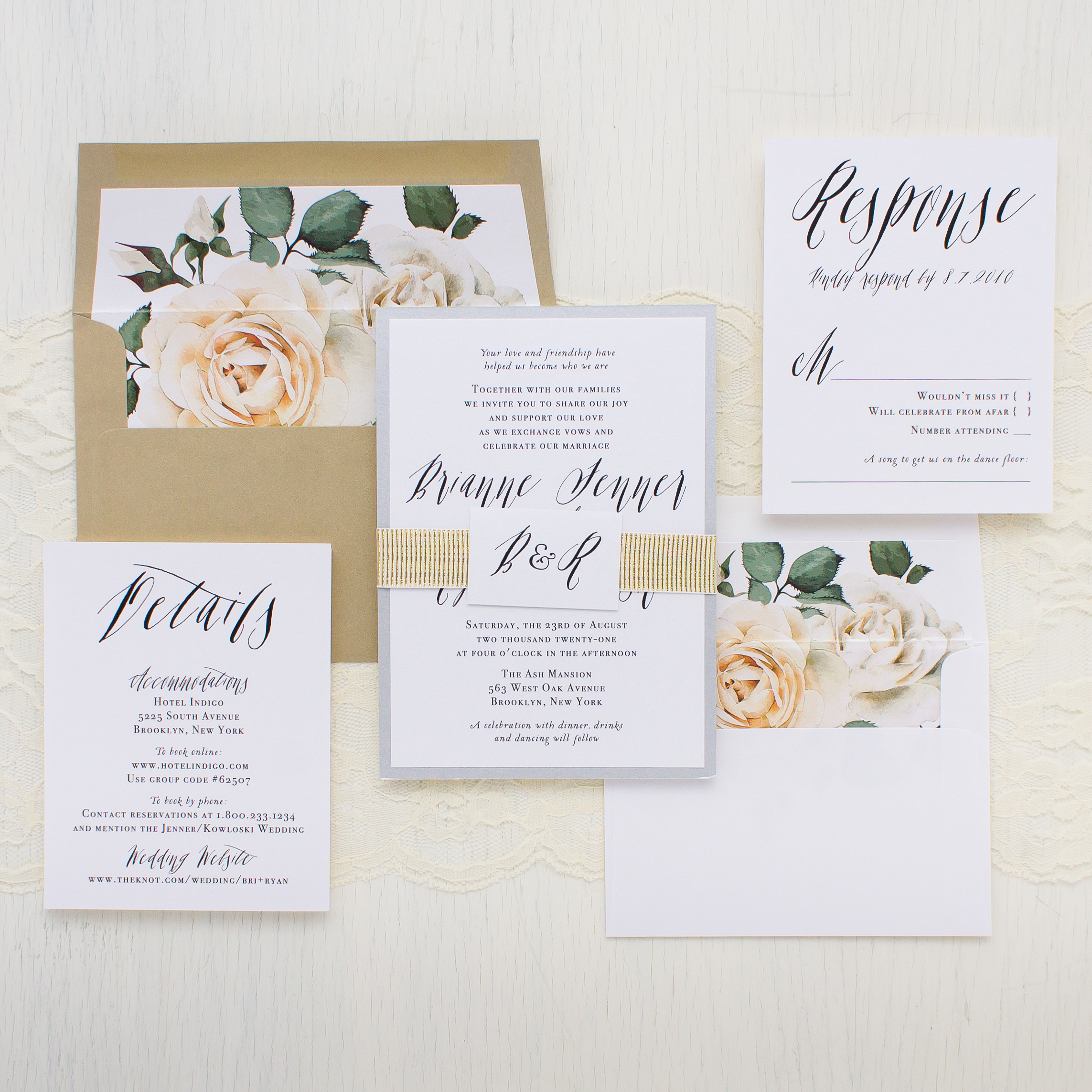 Modern Calligraphy Customizable Wedding Invitations