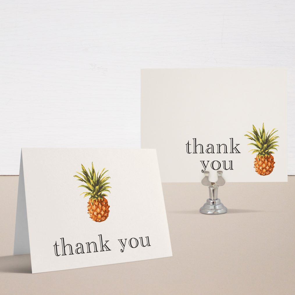 Pineapple Paradise Bridal Shower Thank You Cards