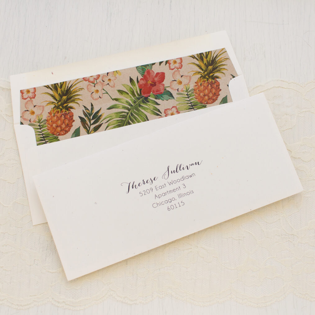 Pineapple Paradise Bridal Shower Invitations