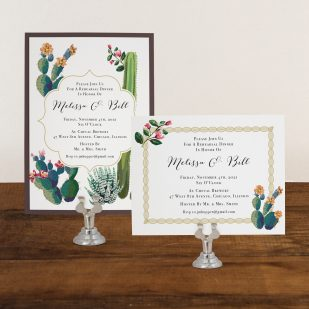 Desert Love Rehearsal Invitations