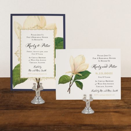 Sweet Magnolia Rehearsal Invitations