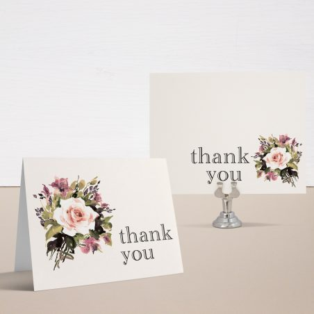 Soft Roses Bridal Shower Thank You Cards