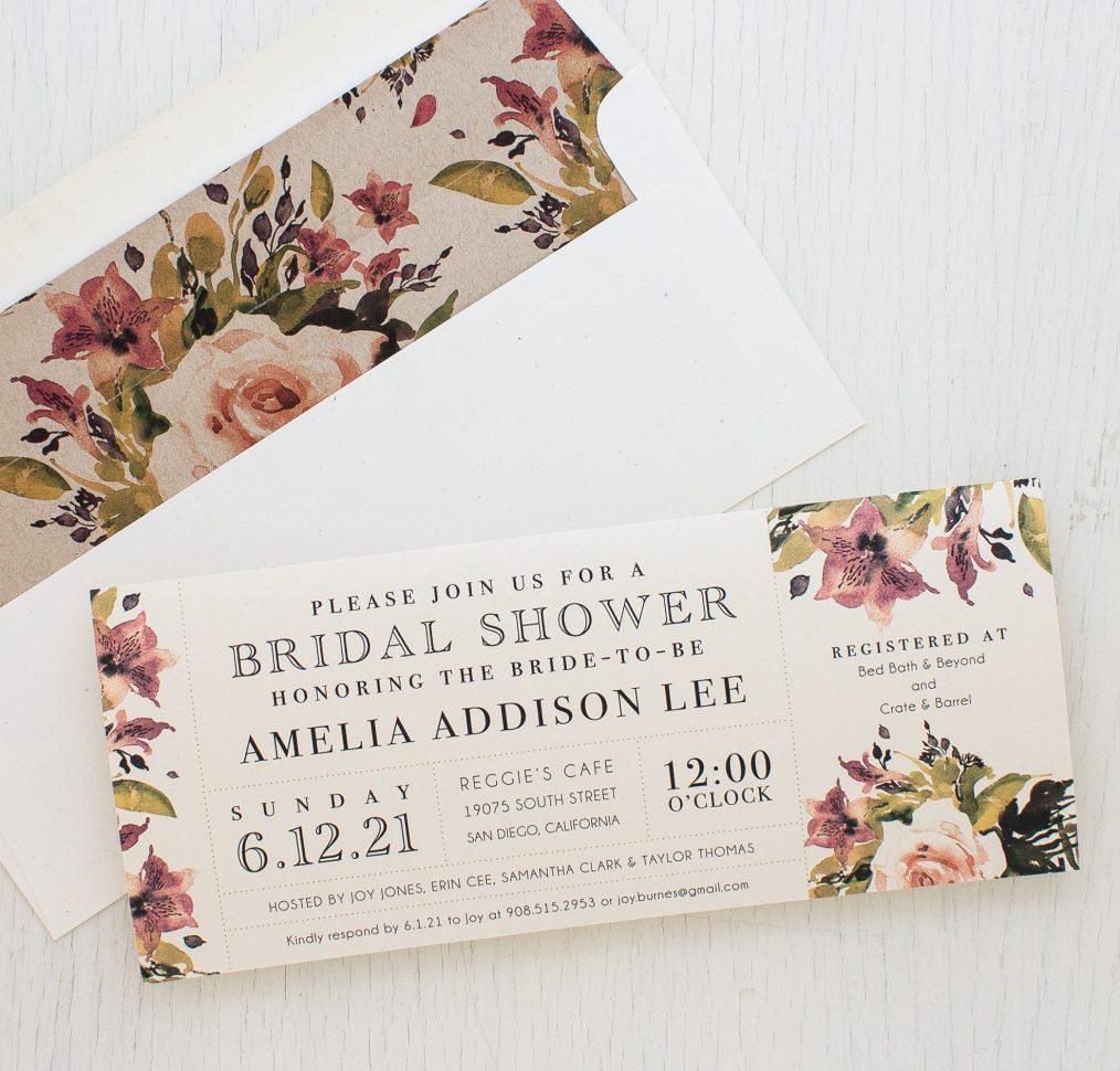 Soft Roses Bridal Shower Invitations