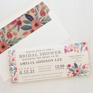 Soft Watercolor Bridal Shower Invitations