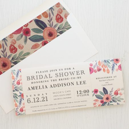 Soft Watercolor Bridal Shower Invitation