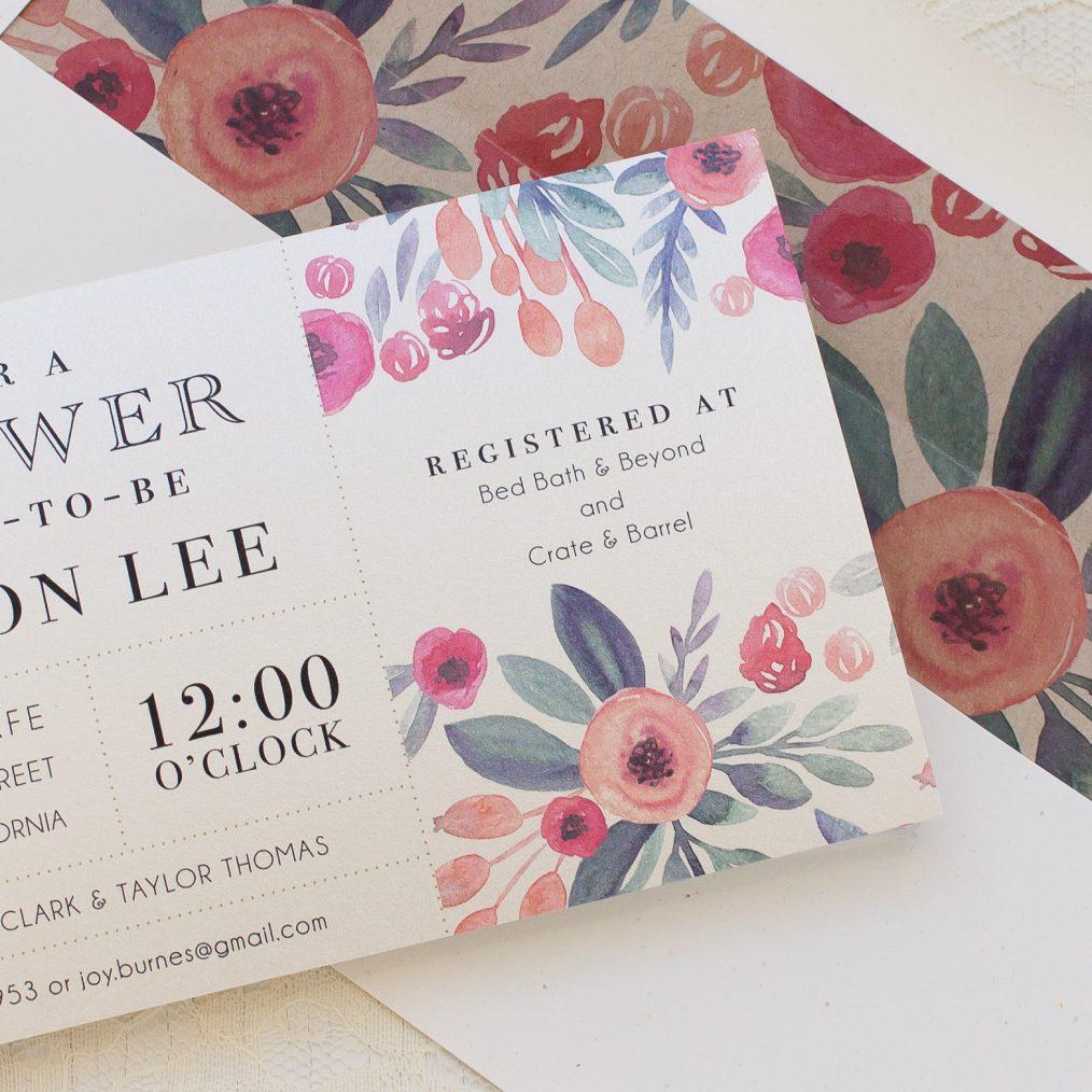 Soft Watercolor Bridal Shower Invitation