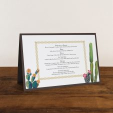 Desert Love Tented Menu Cards