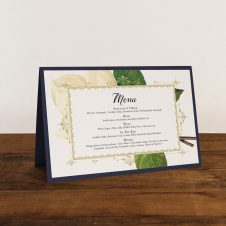 Sweet Magnolia Tented Menu Cards
