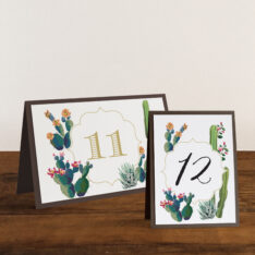 Desert Love Tented Table Number