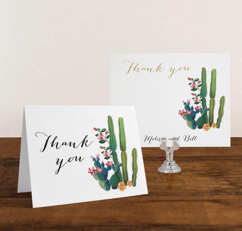 Desert Love Thank You Cards