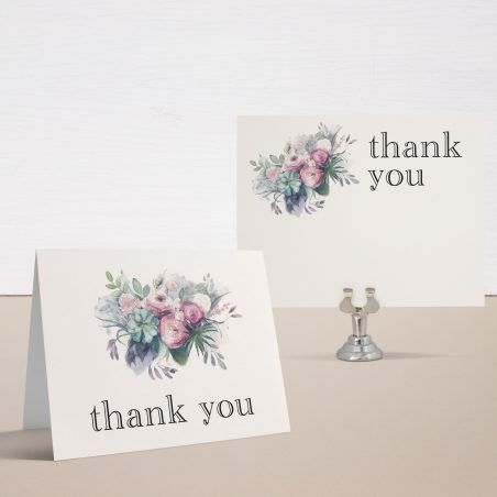 Watercolor Rose Bridal Shower Thank You Cards