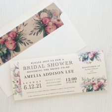 Watercolor Rose Bridal Shower Invitations