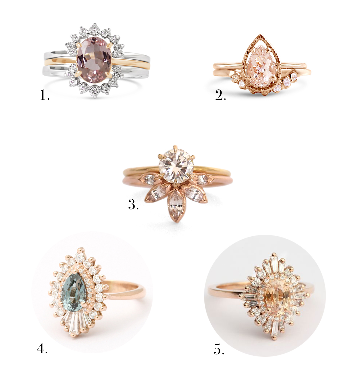Top Engagement Ring Styles 2017 Colored Rings