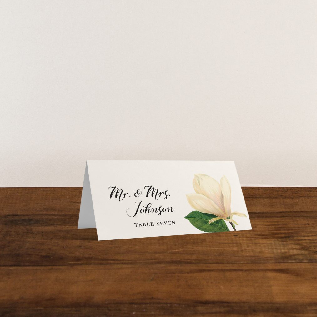 Sweet Magnolia Place and Escort Cards