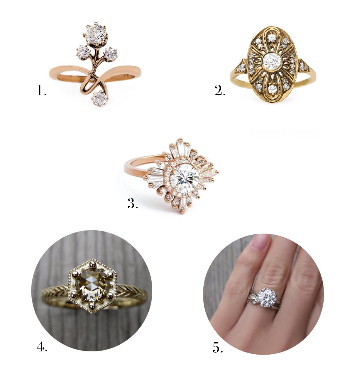 Top Engagement Ring Styles 2017 Vintage Rings