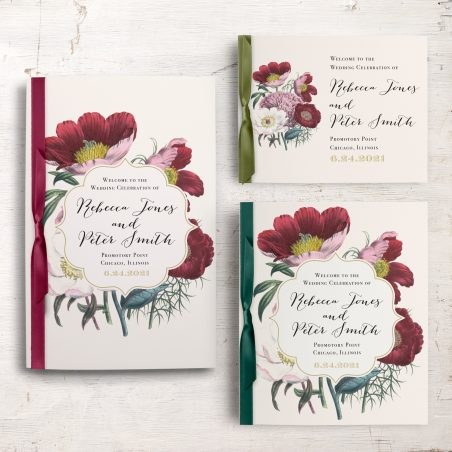 Floral Boho Ceremony Booklet