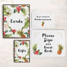Pineapple Paradise Custom Signs