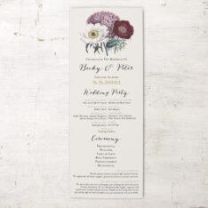 Floral Boho Flat Ceremony Program