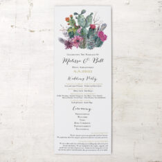 Cactus Blooms Flat Ceremony Programs