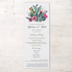 Desert Blooms Flat Ceremony Programs