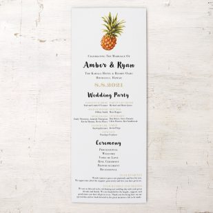 Pineapple Paradise Flat Ceremony Programs