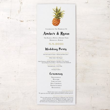 Pineapple Paradise Flat Ceremony Programs