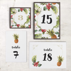 Pineapple Paradise Flat Table Numbers