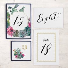 Desert Blooms Flat Table Numbers