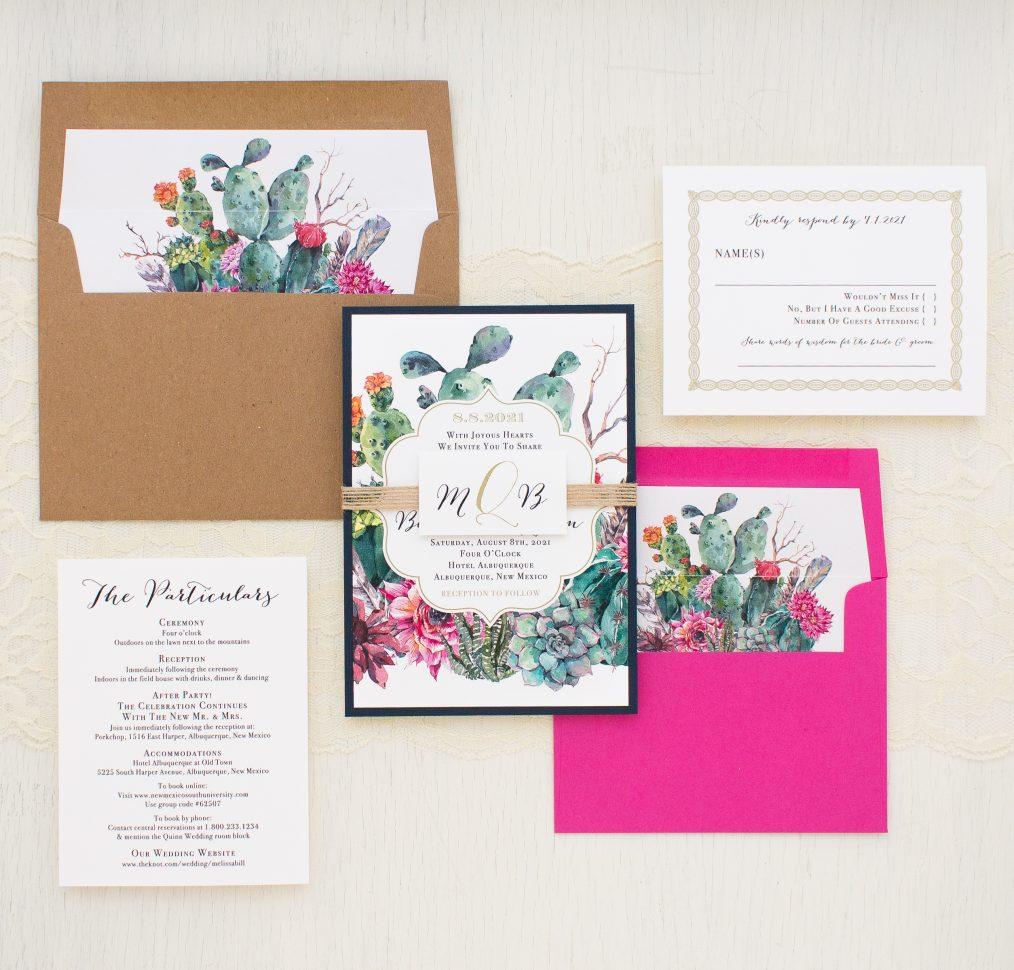 Desert Blooms Wedding Invitations
