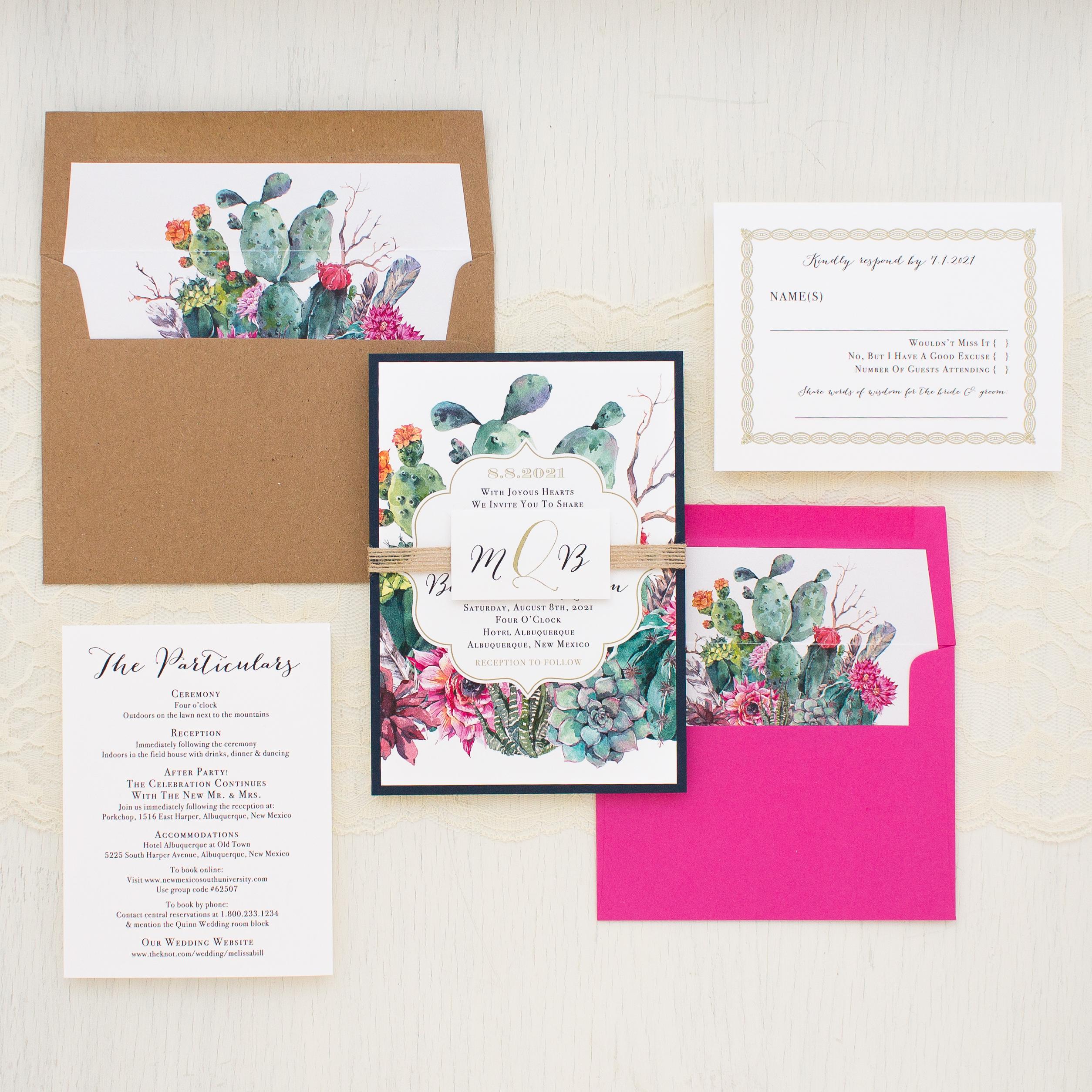 Desert Blooms Wedding Invitations | Beacon Lane