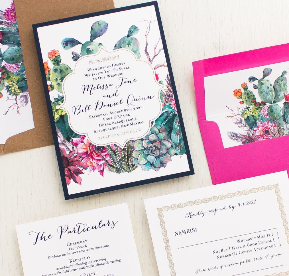 Desert Blooms Bridal Shower Invitation