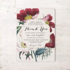Floral Boho Reception Thank Yous