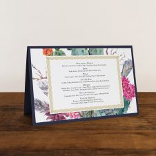 Desert Blooms Tented Menu Cards