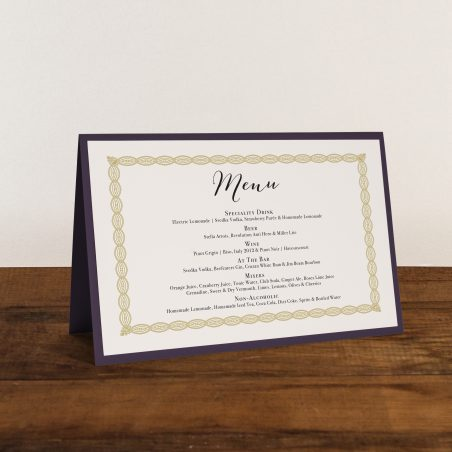 Floral Boho Tented Menu Cards